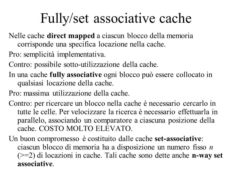 Fully/set associative cache
