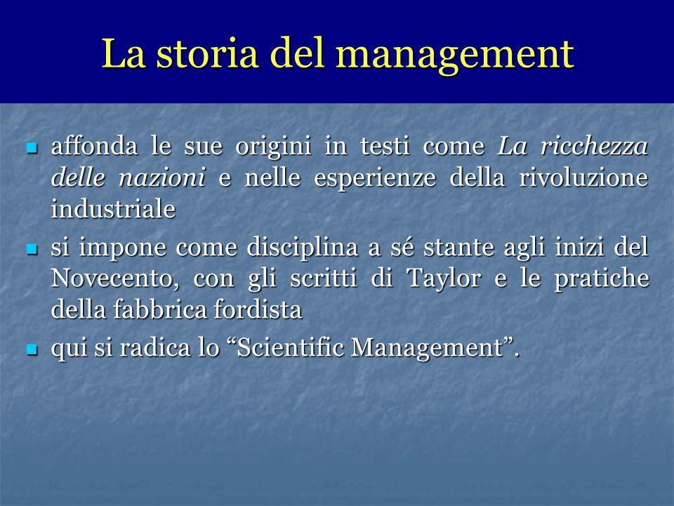La storia del management