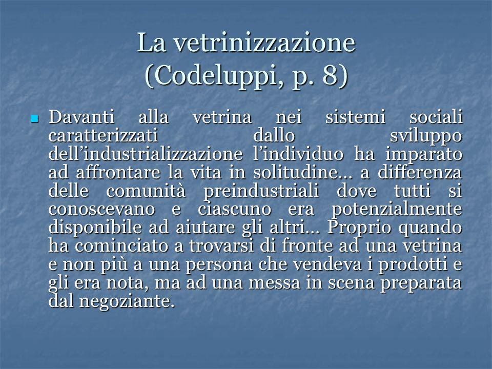 La vetrinizzazione (Codeluppi, p. 8)