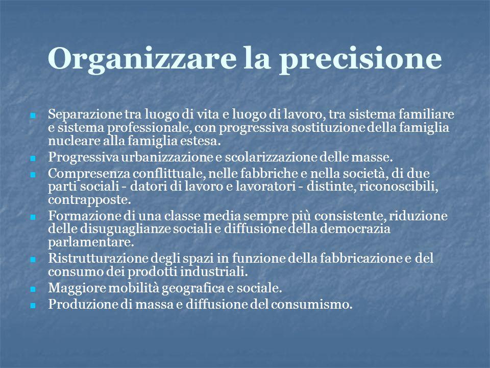 Organizzare la precisione