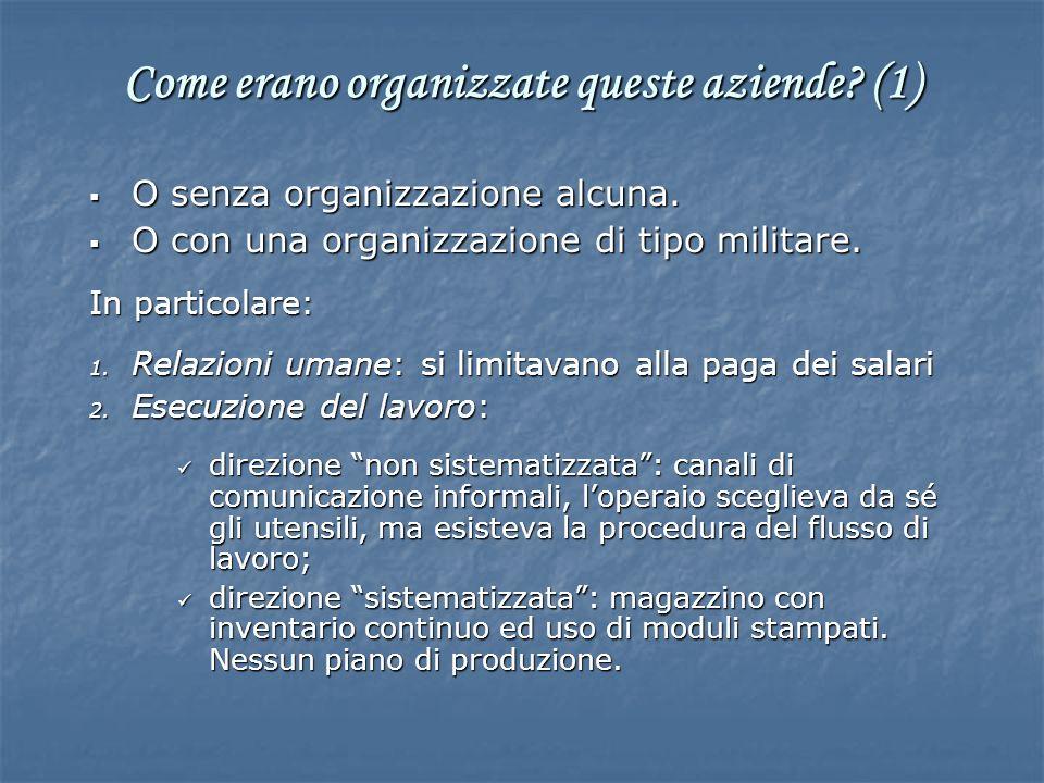 Come erano organizzate queste aziende (1)