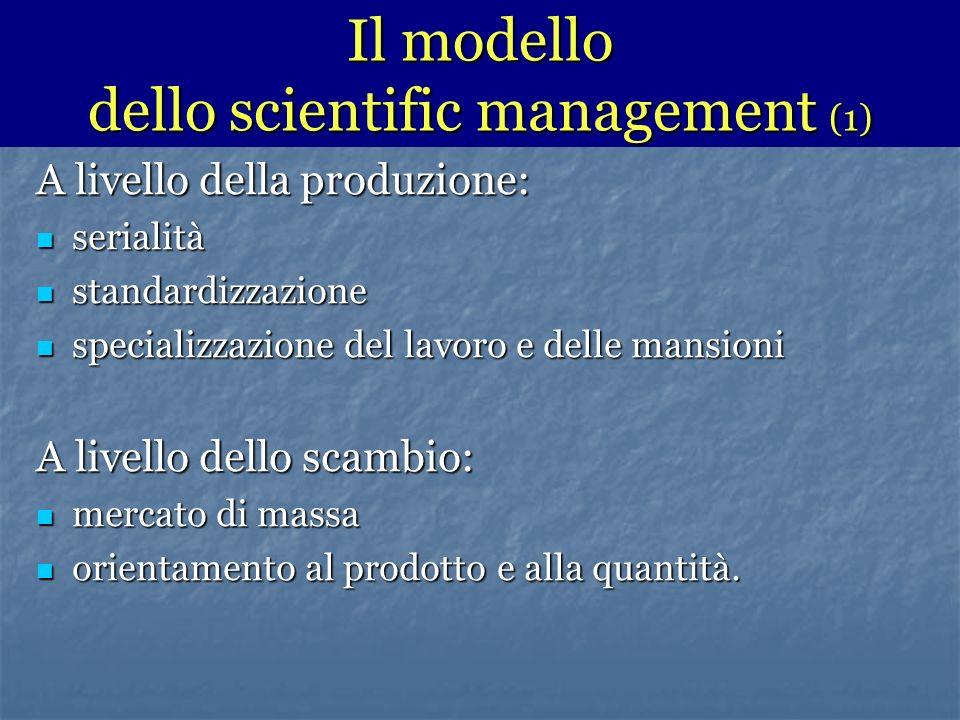 Il modello dello scientific management (1)