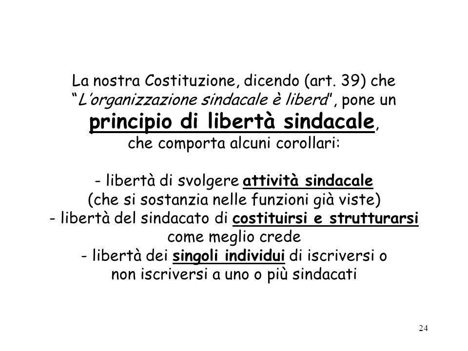 La nostra Costituzione, dicendo (art