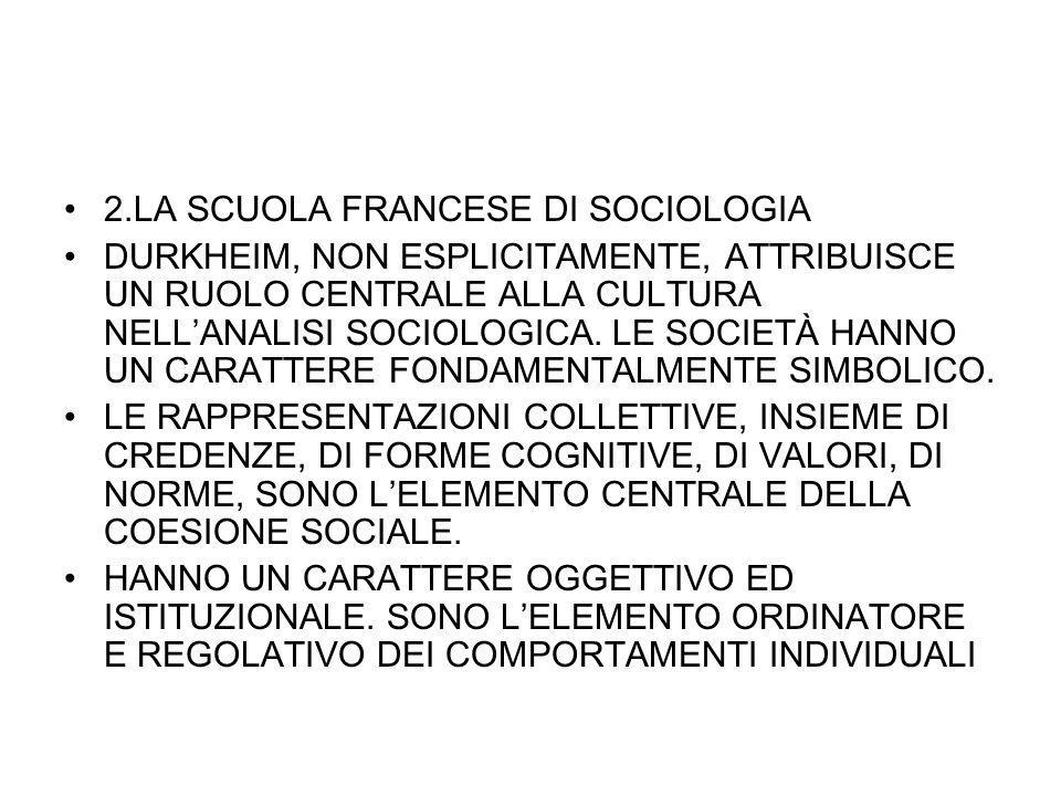 2.LA SCUOLA FRANCESE DI SOCIOLOGIA