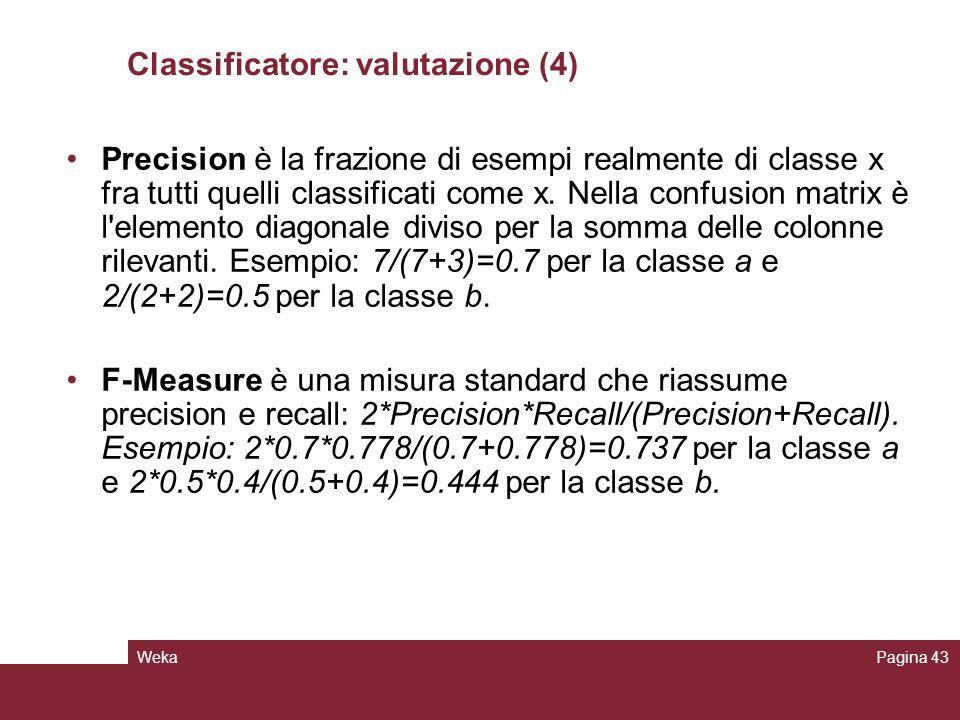Classificatore: valutazione (4)