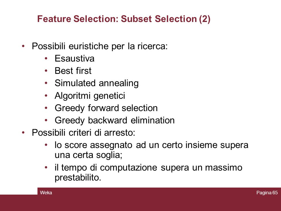 Feature Selection: Subset Selection (2)