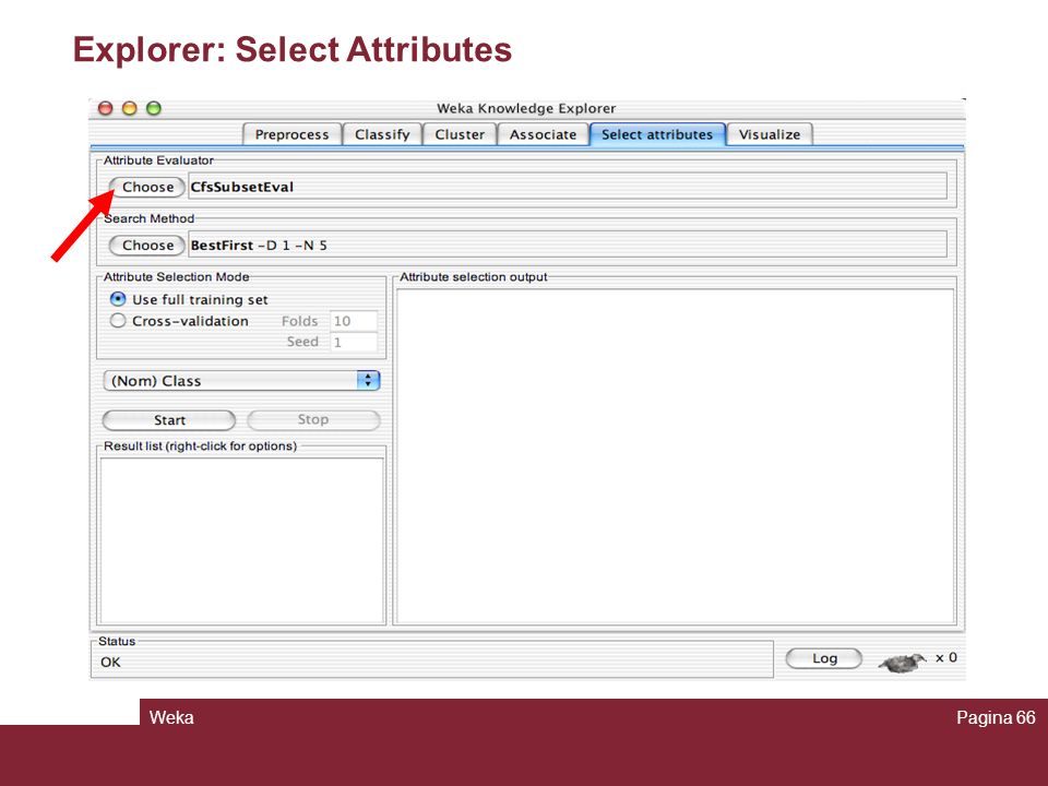 Explorer: Select Attributes