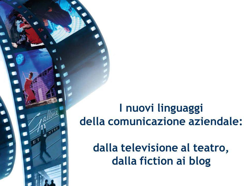 I nuovi linguaggi della comunicazione aziendale: dalla televisione al teatro, dalla fiction ai blog