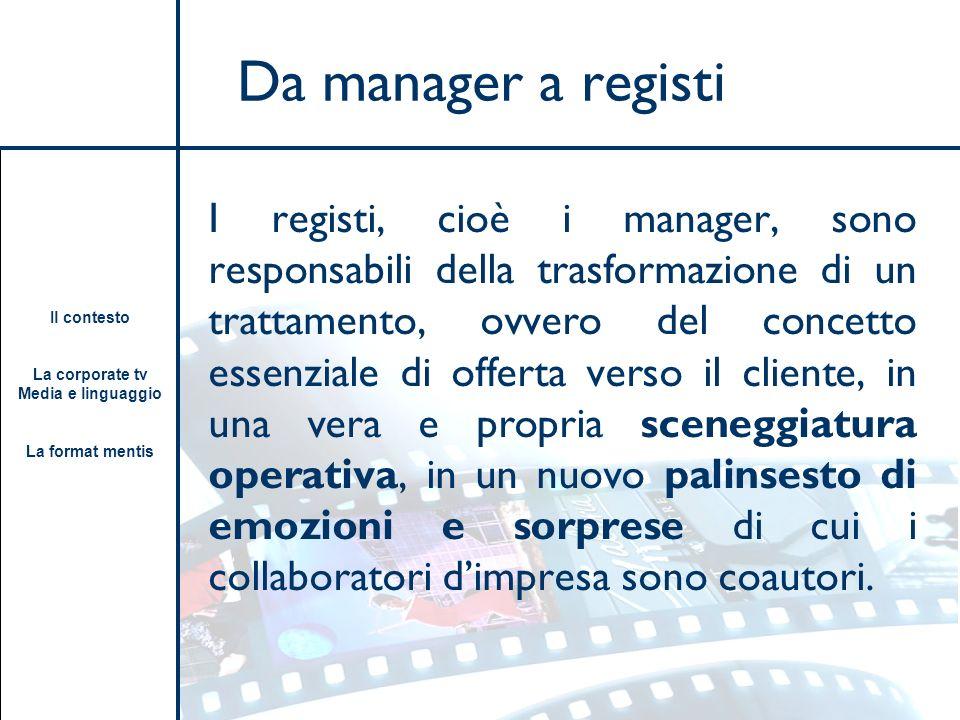 Da manager a registi
