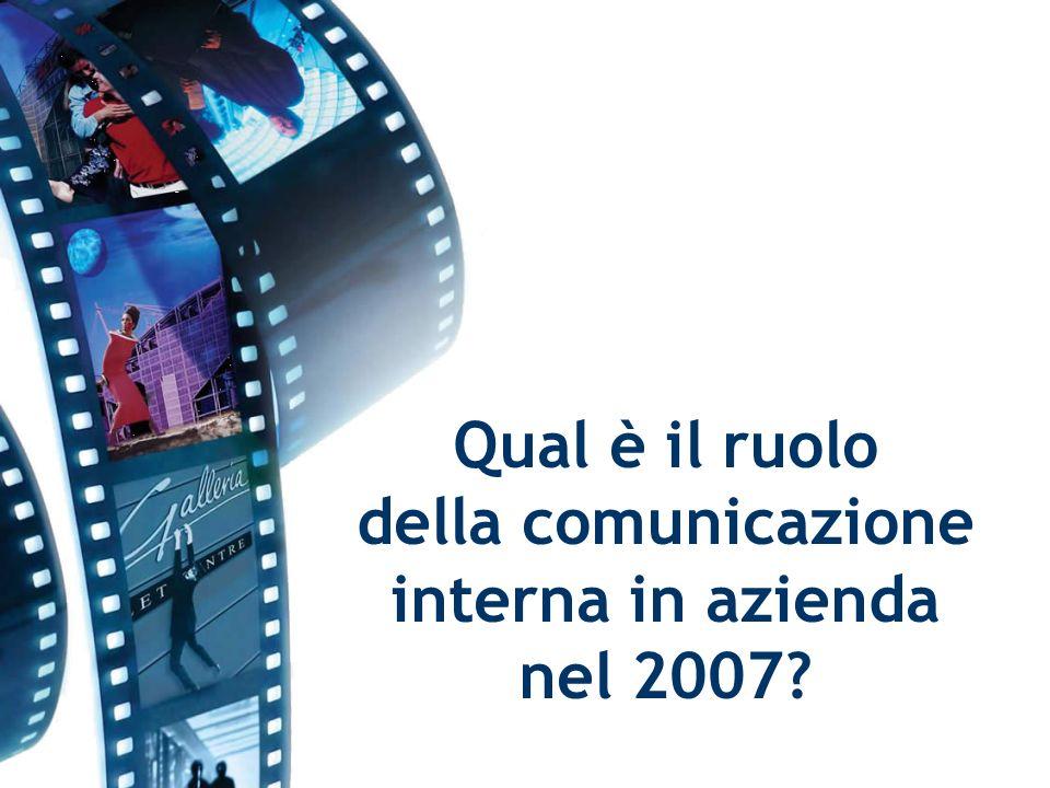 Qual è il ruolo della comunicazione interna in azienda nel 2007
