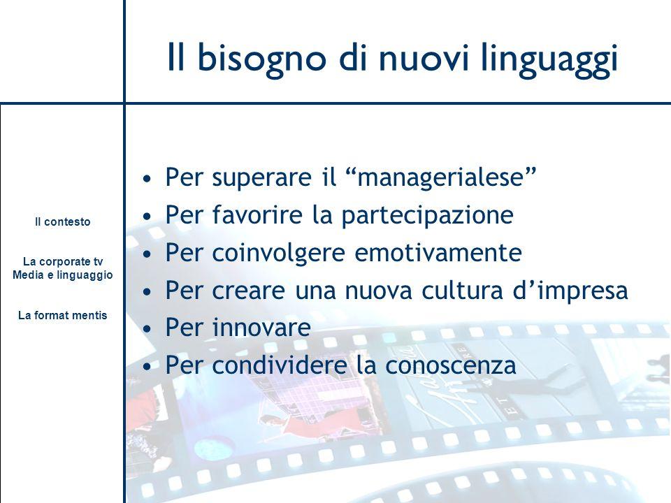 Il bisogno di nuovi linguaggi