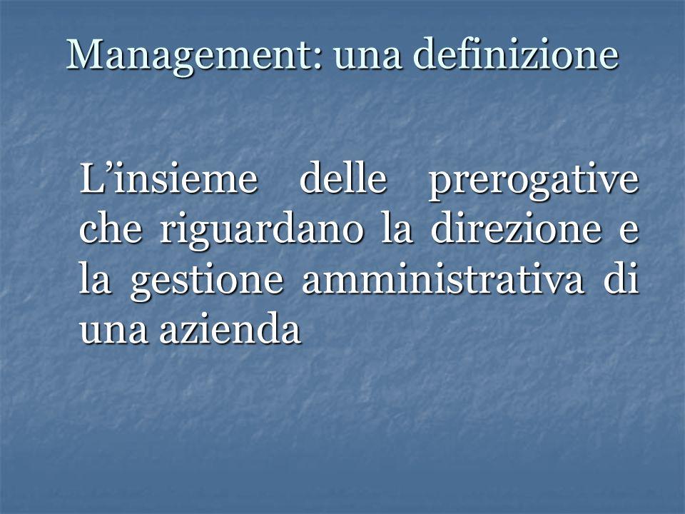 Management: una definizione