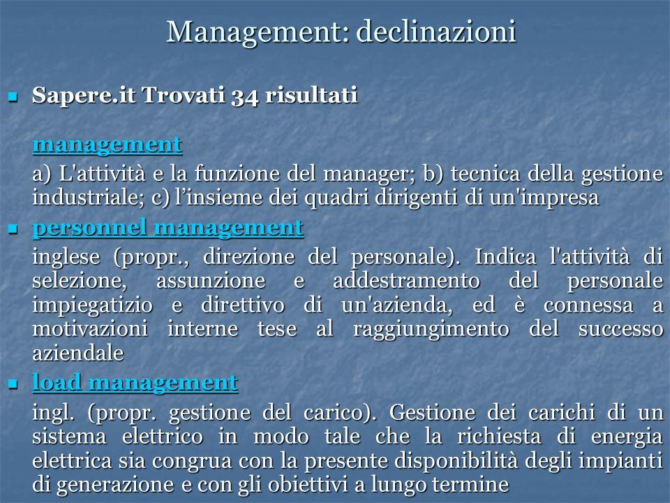 Management: declinazioni