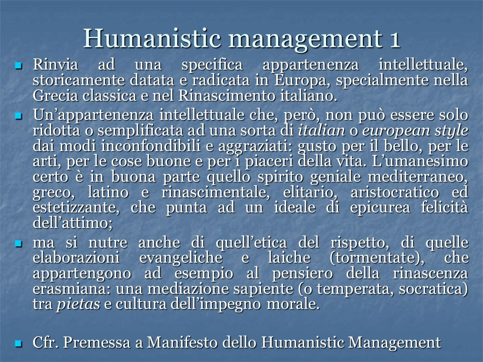 Humanistic management 1