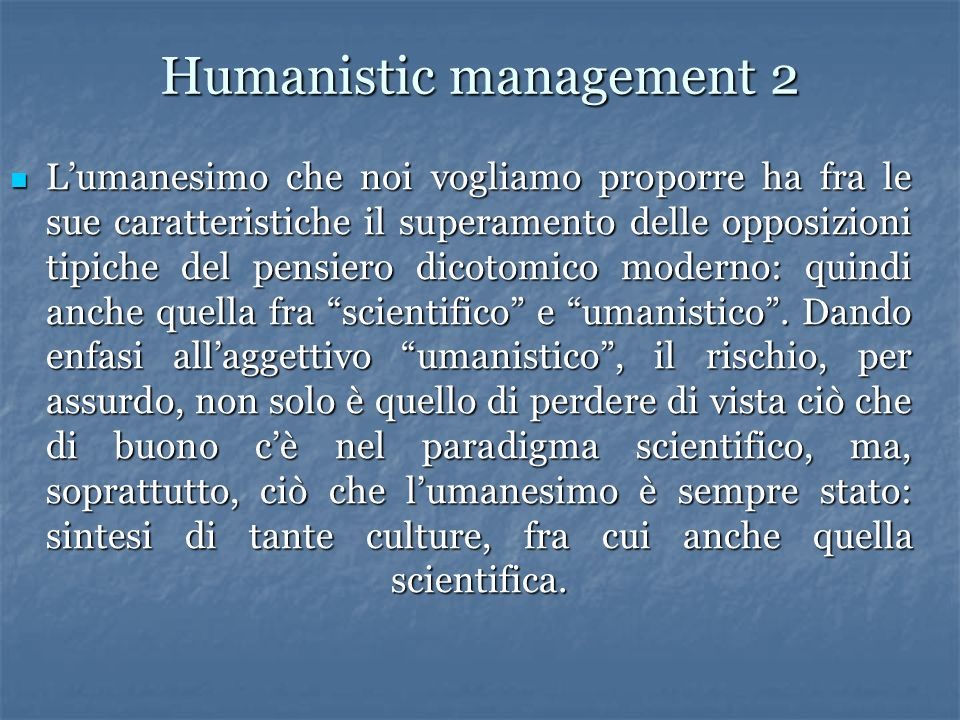 Humanistic management 2