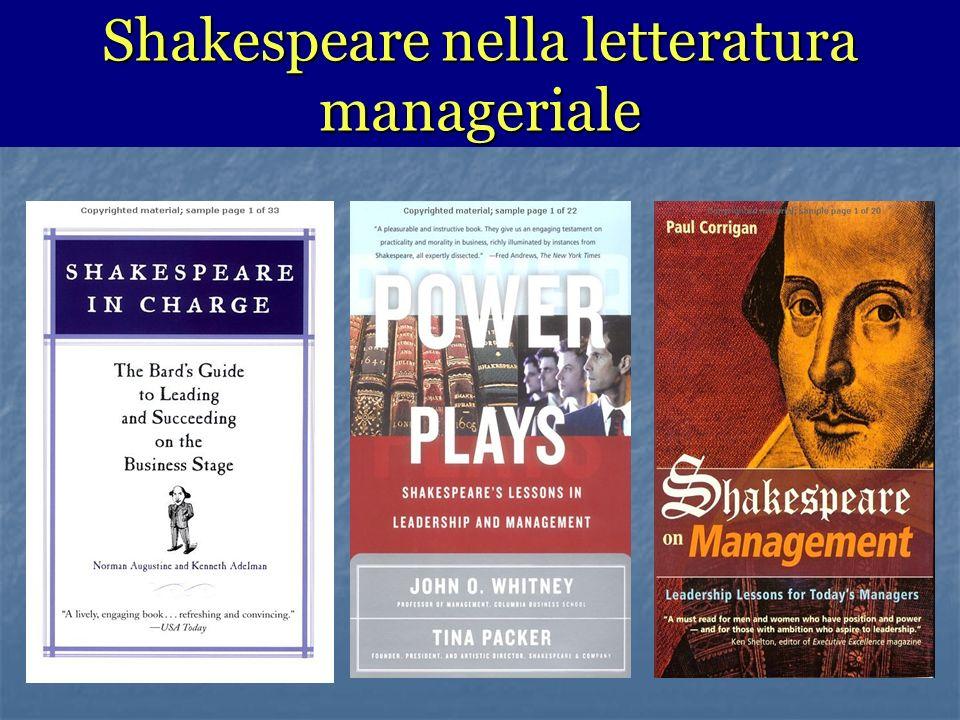 Shakespeare nella letteratura manageriale