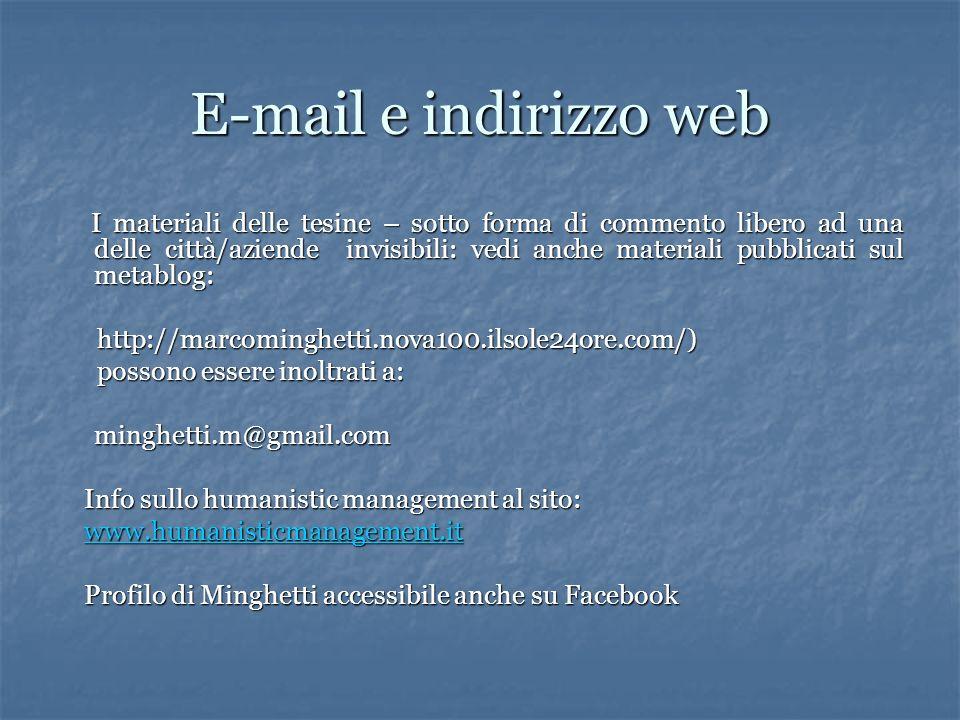 E-mail e indirizzo web