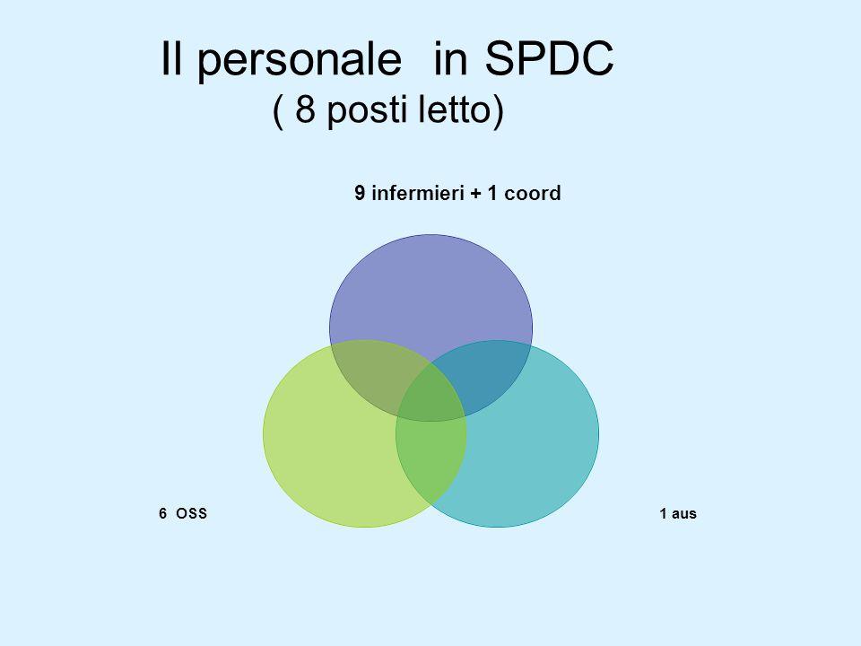 Il personale in SPDC ( 8 posti letto)