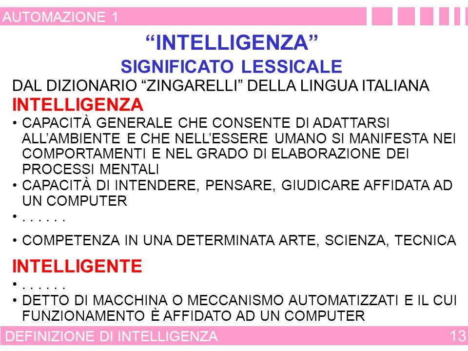 SIGNIFICATO LESSICALE