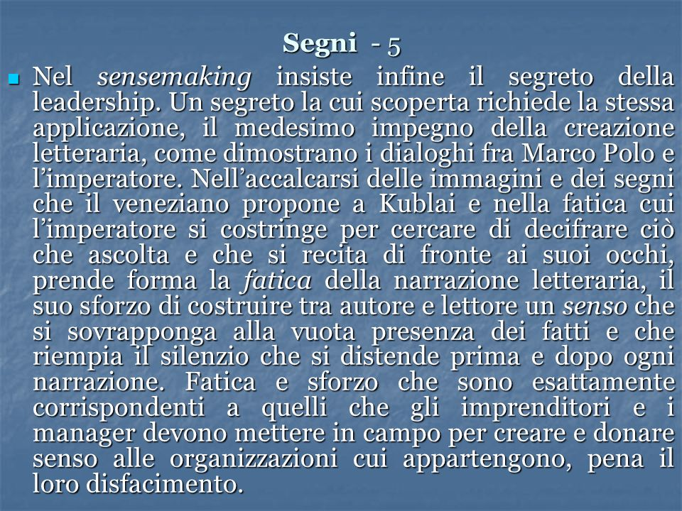 Segni - 5