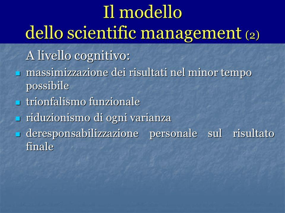 Il modello dello scientific management (2)
