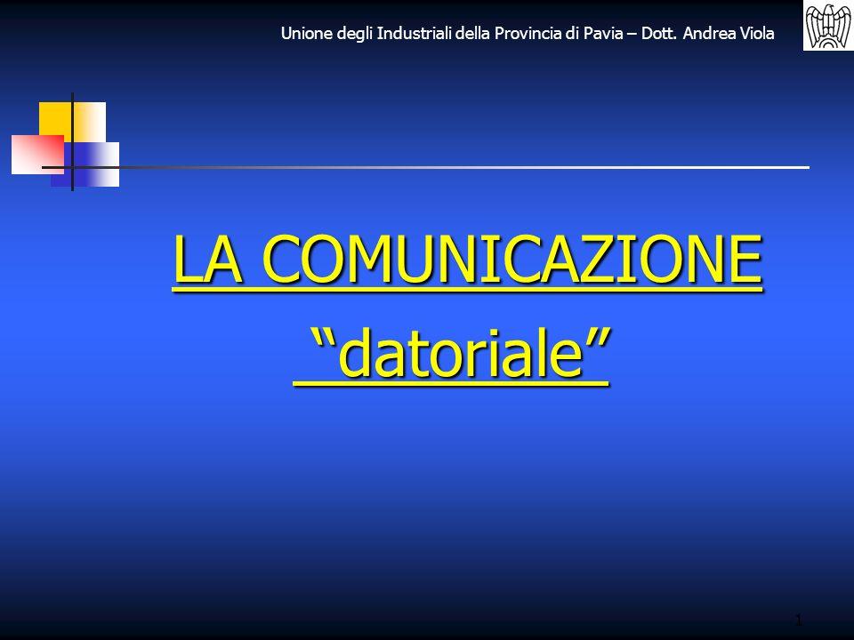 LA COMUNICAZIONE datoriale