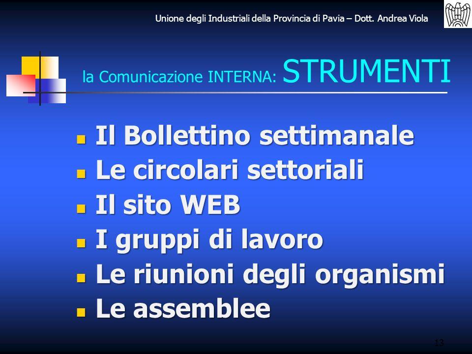la Comunicazione INTERNA: STRUMENTI