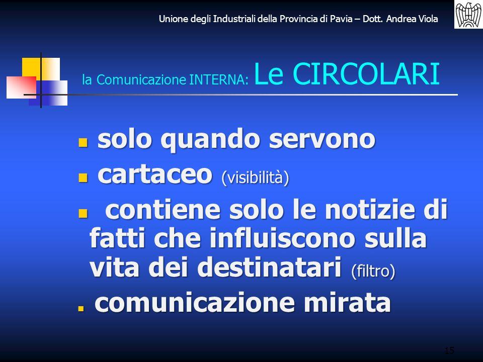 la Comunicazione INTERNA: Le CIRCOLARI