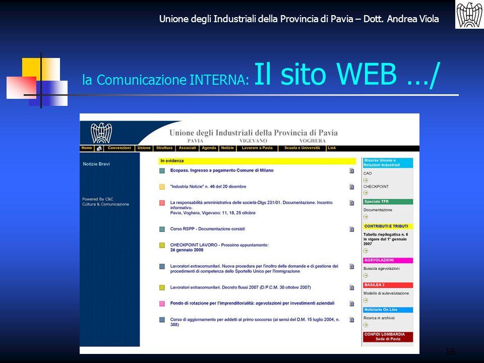 la Comunicazione INTERNA: Il sito WEB …/