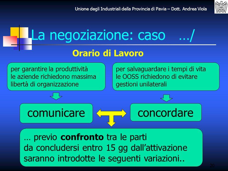 La negoziazione: caso …/