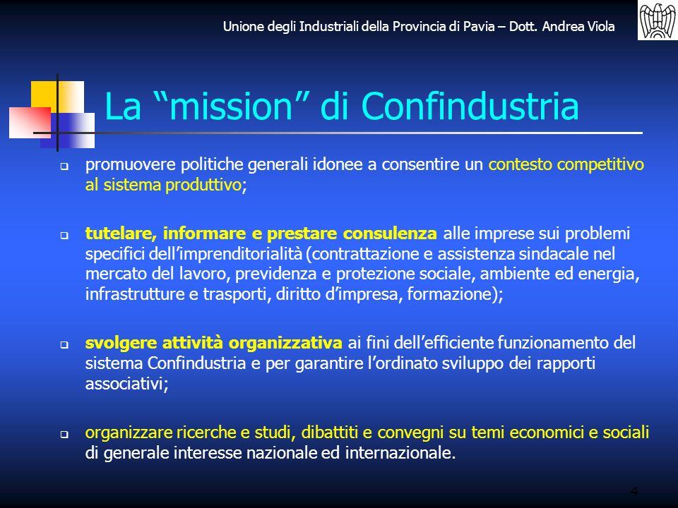 La mission di Confindustria