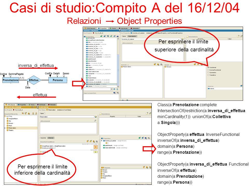 Casi di studio:Compito A del 16/12/04 Relazioni Object Properties