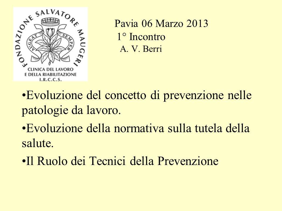 Pavia 06 Marzo 2013 1° Incontro A. V. Berri