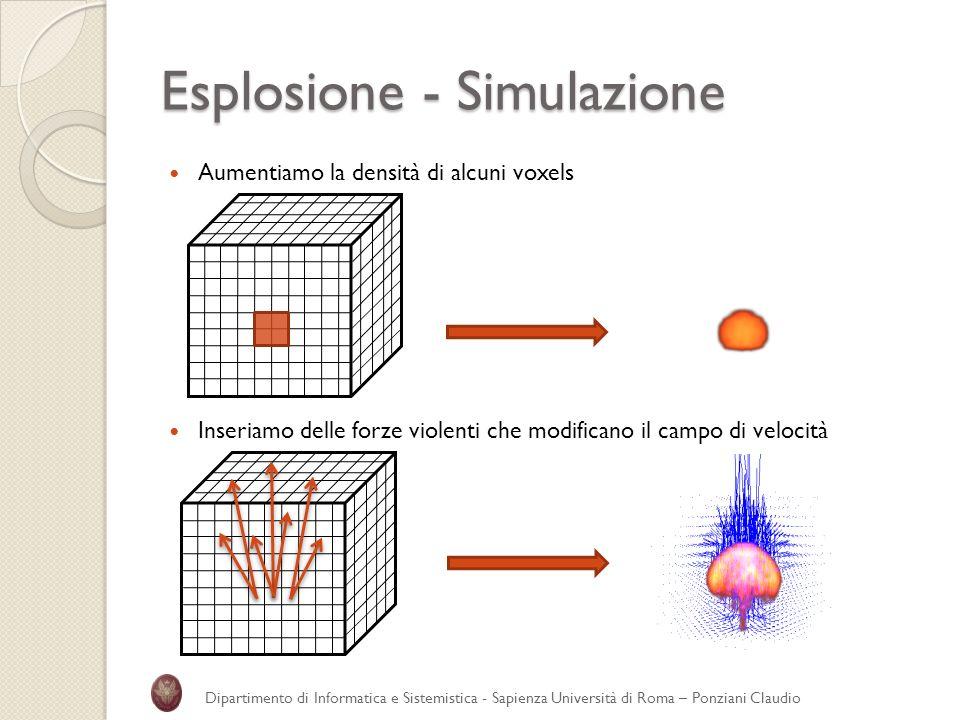 Esplosione - Simulazione
