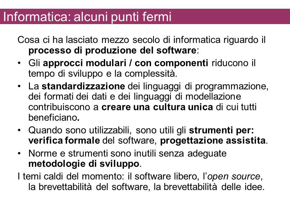 Informatica: alcuni punti fermi