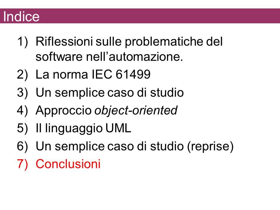 Indice Riflessioni sulle problematiche del software nell'automazione.