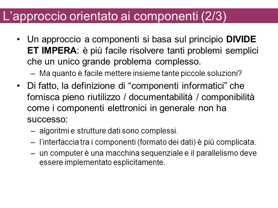 L'approccio orientato ai componenti (2/3)