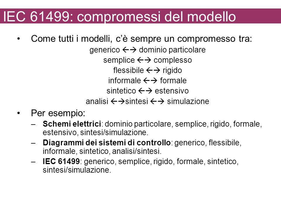 IEC 61499: compromessi del modello