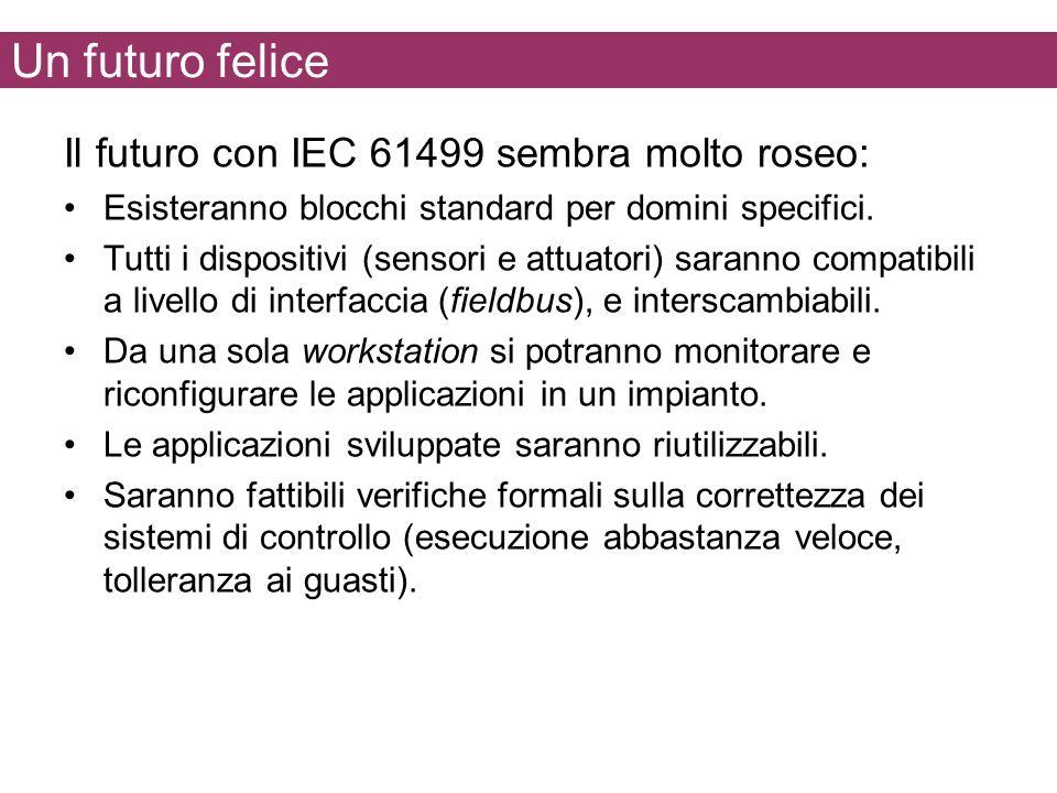 Un futuro felice Il futuro con IEC 61499 sembra molto roseo: