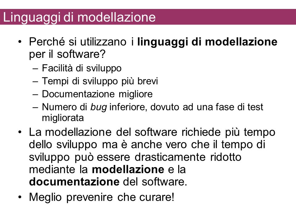 Linguaggi di modellazione