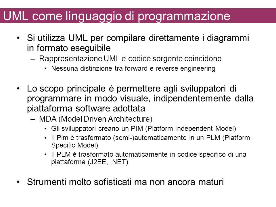 UML come linguaggio di programmazione