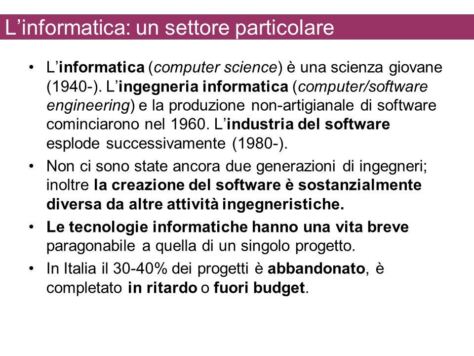 L'informatica: un settore particolare