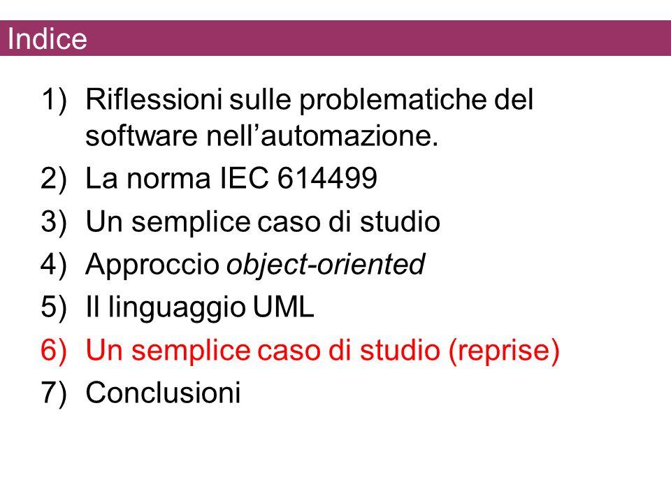 Indice Riflessioni sulle problematiche del software nell'automazione. La norma IEC 614499. Un semplice caso di studio.