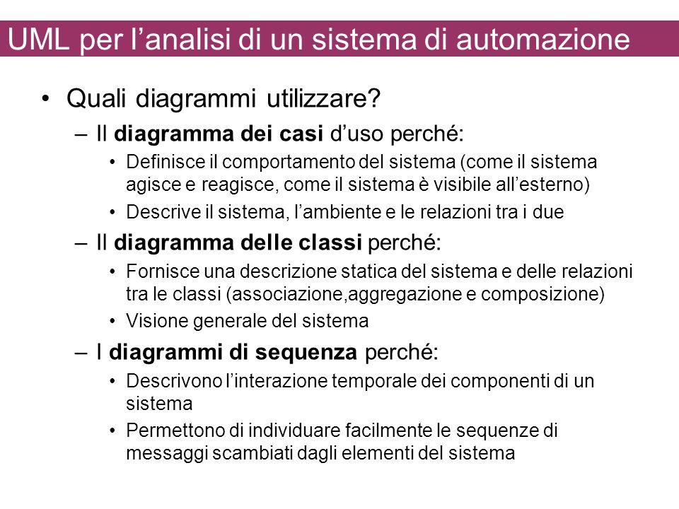 UML per l'analisi di un sistema di automazione