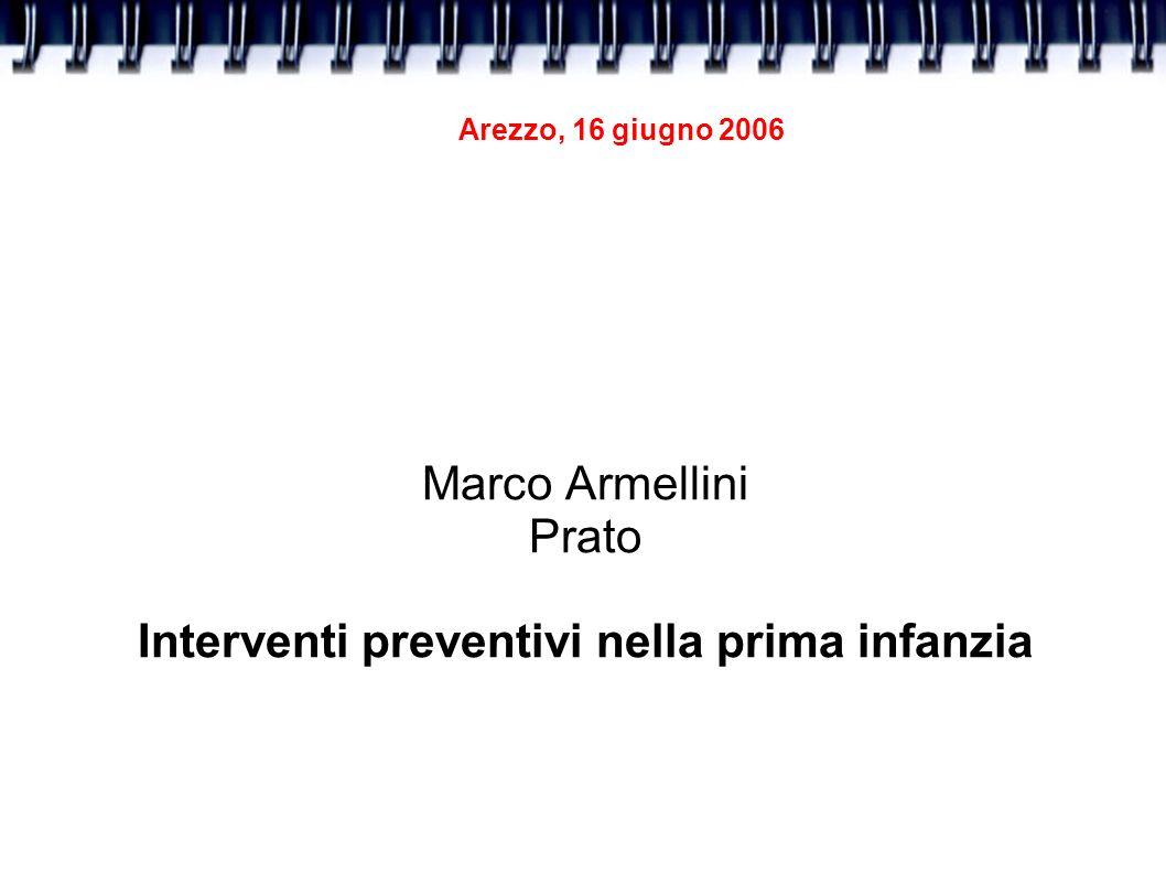 Marco Armellini Prato Interventi preventivi nella prima infanzia