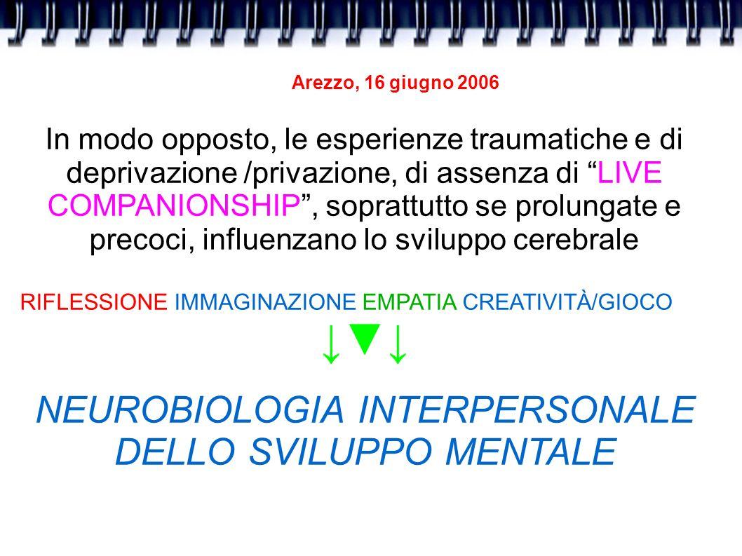 NEUROBIOLOGIA INTERPERSONALE DELLO SVILUPPO MENTALE