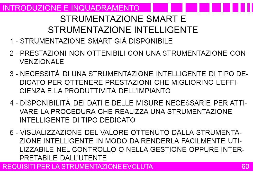 STRUMENTAZIONE SMART E STRUMENTAZIONE INTELLIGENTE
