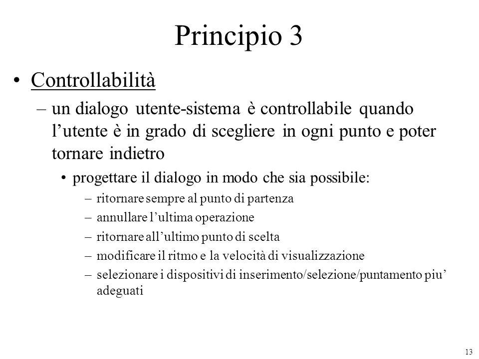 Principio 3 Controllabilità