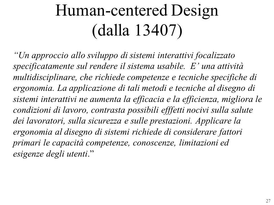 Human-centered Design (dalla 13407)