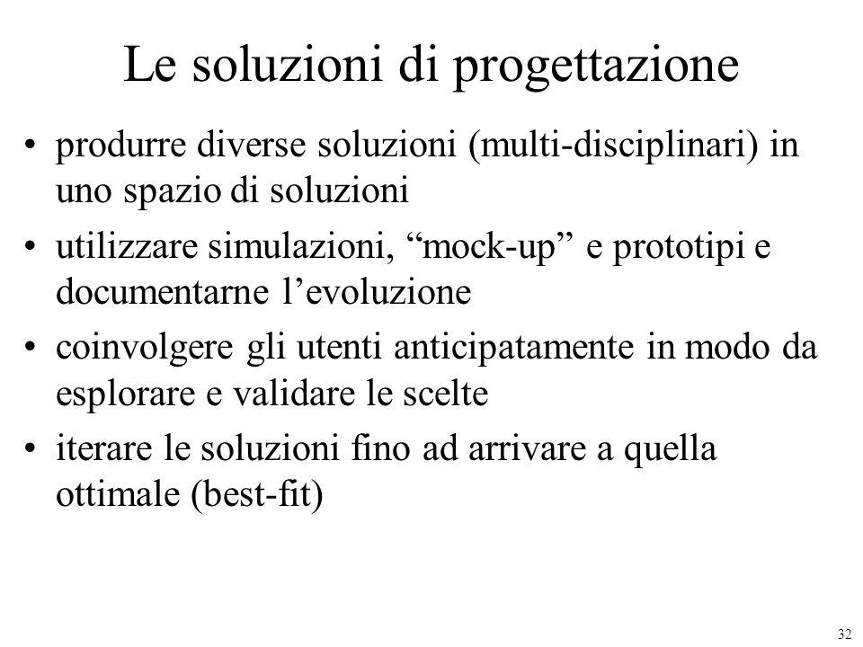 Le soluzioni di progettazione